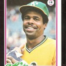 OAKLAND ATHLETICS EARL WILLIAMS 1978 TOPPS # 604 NM OC