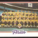 PITTSBURGH PIRATES TEAM CARD 1978 TOPPS # 606 NM OC unmarked cl
