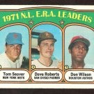 ERA LDRS NEW YORK METS TOM SEAVER PADRES DAVE ROBERTS  HOUSTON ASTROS DON WILSON 1972 TOPPS #91 VG+