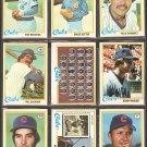 1978 TOPPS CHICAGO CUBS TEAM LOT 28 DIFF BRUCE SUTTER BUCKNER REUSCHEL MURCER HERNANDEZ RC KINGMAN +