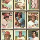 1978 TOPPS CINCINNATI REDS TEAM LOT 21 DIFF PETE ROSE JOHNNY BENCH SEAVER JOE MORGAN FOSTER KNIGHT +