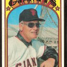 SAN FRANCISCO GIANTS CHARLIE FOX 1972 TOPPS # 129 good