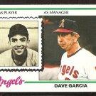 CALIFORNIA ANGELS DAVE GARCIA 1978 TOPPS # 656 EX