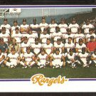 TEXAS RANGERS TEAM CARD 1978 TOPPS # 659 UNMARKED CHECKLIST NM OC