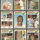 1977 TOPPS SAN FRANCISCO GIANTS TEAM LOT 23 DIFF McCOVEY MURCER JACK CLARK ROOKIE EVANS HERNDON +