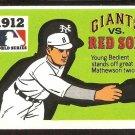 1971-78 FLEER WORLD SERIES 1912 GIANTS vs RED SOX # 10 VG+/EX