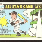 1981 FLEER 1939 ALL STAR GAME 6 YANKEES IN LINEUP W/BOSTON RED SOX STICKER ON BACK