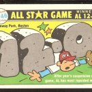 1981 FLEER 1946 ALL STAR GAME 12-0 A.L. W/ MILWAUKEE BREWERS STICKER ON BACK