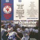 1987 BOSTON RED SOX SCHEDULE FLYER W/ BILL BUCKNER AUTOGRAPH