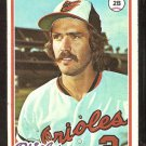 BALTIMORE ORIOLES BILLY SMITH ROOKIE CARD RC 1978 TOPPS # 666 VG