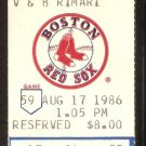 BOSTON RED SOX DETROIT TIGERS 1986 TICKET DARRELL EVANS 2 HR JIM RICE DWIGHT EVANS