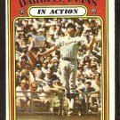 ATLANTA BRAVES DARRELL EVANS IN ACTION 1972 TOPPS # 172 VG/EX