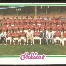 CLEVELAND INDIANS TEAM CARD 1978 TOPPS # 689 VG+ UNMARKED CHECKLIST