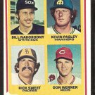 ROOKIE CATCHERS CINCINNATI REDS SEATTLE MARINERS SAN DIEGO PADRES CHICAGO WHITE SOX 1978 TOPPS #702