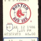 CALIFORNIA ANGELS BOSTON RED SOX 1986 TICKET ROGER CLEMENS JIM RICE BUCKNER HR