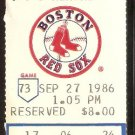 TORONTO BLUE JAYS BOSTON RED SOX 1986 TICKET WADE BOGGS DWIGHT EVANS HR