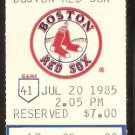 CALIFORNIA ANGELS BOSTON RED SOX 1985 TICKET ROD CAREW WADE BOGGS LINARES EASLER