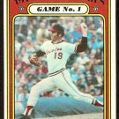 WORLD SERIES GAME 1 BALTIMORE ORIOLES DAVE McNALLY 1972 TOPPS # 223 VG