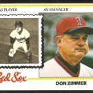 BOSTON RED SOX DON ZIMMER 1978 TOPPS # 63 NM