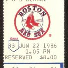 BALTIMORE ORIOLES BOSTON RED SOX 1986 TICKET CAL RIPKEN EDDIE MURRAY SHEETS YOUNG SHELBY