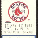 TEXAS RANGERS BOSTON RED SOX 1986 TICKET JIM RICE LARRY PARRISH QUINONES