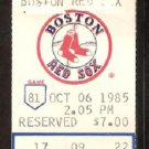 MILWAUKEE BREWERS BOSTON RED SOX 1985 TICKET WADE BOGGS PAUL MOLITOR