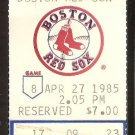KANSAS CITY ROYALS BOSTON RED SOX 1985 TICKET GEORGE BRETT WADE BOGGS +