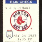 CHICAGO WHITE SOX BOSTON RED SOX 1987 TICKET STUB HAROLD BAINES DARYL BOSTON TIM HULLETT SPIKE OWEN