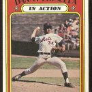 NEW YORK METS DANNY FRISELLA IN ACTION 1972 TOPPS # 294 VG+