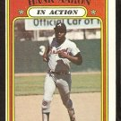 ATLANTA BRAVES HANK AARON IN ACTION 1972 TOPPS # 300 VG