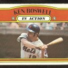 NEW YORK METS KEN BOSWELL IN ACTION 1972 TOPPS # 306 VG+