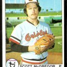 BALTIMORE ORIOLES SCOTT McGREGOR 1979 TOPPS # 393