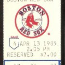 CHICAGO WHITE SOX BOSTON RED SOX 1985 TICKET JIM RICE WADE BOGGS ARMAS BUCKNER