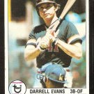 SAN FRANCISCO GIANTS DARRELL EVANS 1979 TOPPS # 410 VG/EX