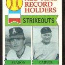 CALIFORNIA ANGELS NOLAN RYAN RECORD HOLDER 1979 TOPPS # 417 EX/EM