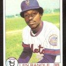 NEW YORK METS LEN RANDLE 1979 TOPPS # 454 VG/EX