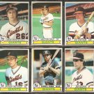 1979 TOPPS SAN FRANCISCO GIANTS TEAM LOT 6 DIFF DARRELL EVANS MONTEFUSCO DWYER BARR +
