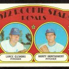 KANSAS CITY ROYALS ROOKIE STARS LANCE CLEMONS MONTY MONTGOMERY 1972 TOPPS # 372 VG