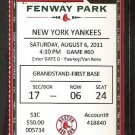 NEW YORK YANKEES BOSTON RED SOX 2011 TICKET DEREK JETER TEIXEIRA ELLSBURY