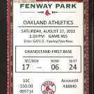 OAKLAND ATHLETICS BOSTON RED SOX 2011 TICKET VARITEK HR DAVID ORTIZ LESTER