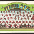 CHICAGO WHITE SOX TEAM CARD 1972 TOPPS # 381 VG