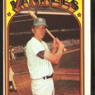 NEW YORK YANKEES FRANK BAKER 1972 TOPPS # 409 EX OC