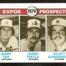 MONTREAL EXPOS ROOKIE PROSPECTS JERRY FRY PIRTLE SCOTT SANDERSON 1979 TOPPS # 720 EX/NM