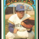 MILWAUKEE BREWERS ELLIE RODRIGUEZ 1972 TOPPS # 421 VG/EX