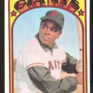 SAN FRANCISCO GIANTS TITO FUENTES 1972 TOPPS # 427 EX