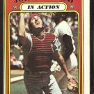 CINCINNATI REDS JOHNNY BENCH IN ACTION 1972 TOPPS # 434 VG OC