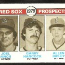 BOSTON RED SOX ROOKIE PROSPECTS FINCH HANCOCK RIPLEY 1979 TOPPS # 702 NR MT