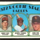 SAN DIEGO PADRES ROOKIE STARS DERREL THOMAS MIKE IVIE DARCY FAST 1972 TOPPS # 457 VG/EX