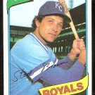 KANSAS CITY ROYALS STEVE BRAUN 1980 TOPPS # 9 NR MT