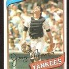 NEW YORK YANKEES JERRY NARRON 1980 TOPPS # 16 NR MT